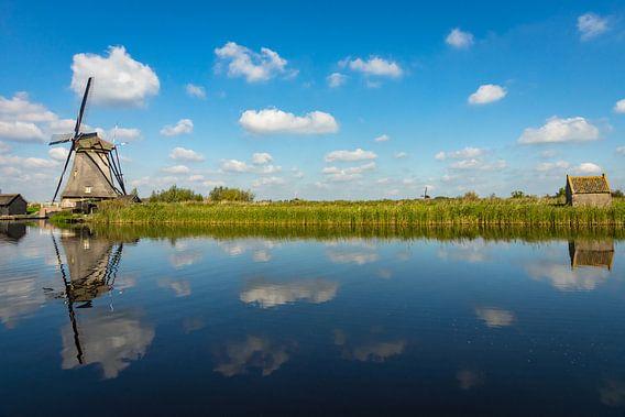 Molen in Kinderdijk van Michel van Kooten