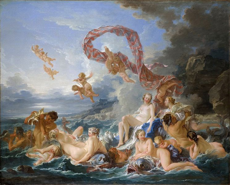 François Boucher - The Triumph of Venus van 1000 Schilderijen
