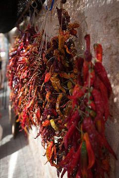 Chili op een markt in Mallorca van t.ART