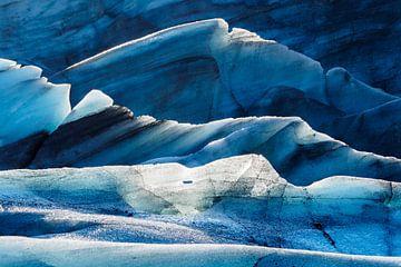 Svínafellsjökull Gletsjer van Edwin van Wijk