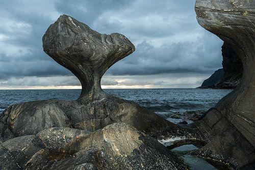 Kannesteinen in Maloy, Noorwegen