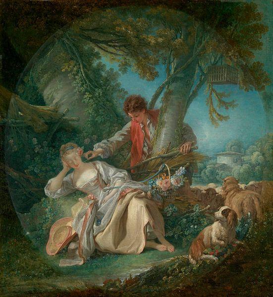 Der unterbrochene Schlaf, François Boucher von Meesterlijcke Meesters