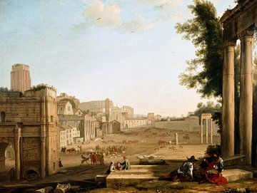 Claude Lorrain. Campo Vaccino, Rome