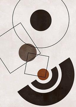 Abstracte Geometrische Vormen Scandinavische Stijl van Diana van Tankeren