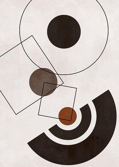 Abstracte Geometrische Vormen Scandinavische Stijl