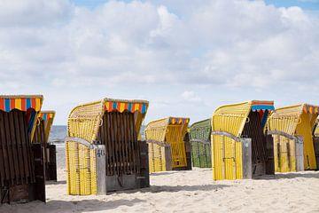 Strandstühle - Egmond aan Zee (die Niederlande) von Gerda Hoogerwerf