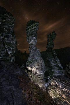 Die Herkulessäulen bei Nacht von Thomas Weber