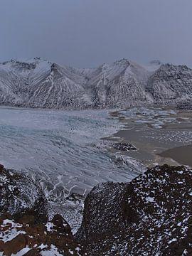 Skaftafellsjökull gletsjer van Timon Schneider