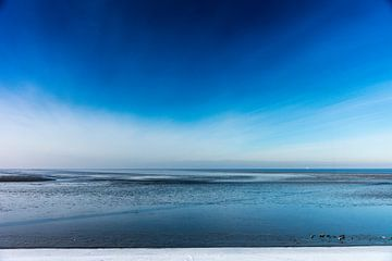 Bevroren Waddenzee van Jan Peter Mulder