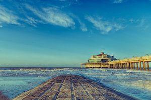 Pier Blankenberge bei Sonnenuntergang von Mike Maes