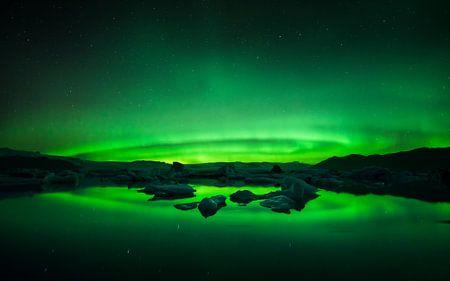 Glacier Lagoon Aurora