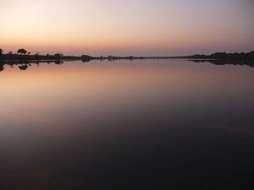 'Zonsondergang Zambezi', Zambia van Martine Joanne
