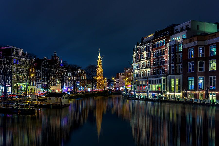 Munttoren Amsterdam van Michael van der Burg