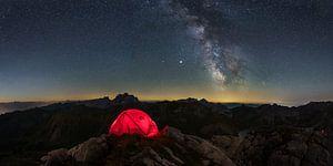 Overnachting op de top van Denis Feiner