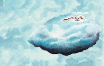 Op een wolk van