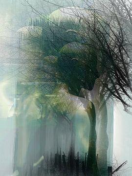 Men and trees van Gabi Hampe