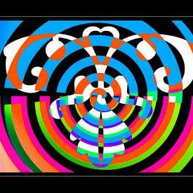 Psychedelic Owl Art von Nicky`s Prints