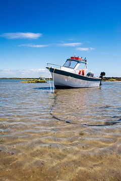 Witte boot met zand van Youri Mahieu
