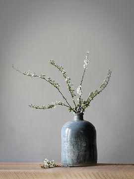 Vaas met bloesem van Karin Bazuin