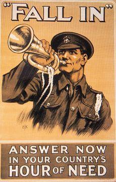 WWI Propaganda poster van Brian Morgan