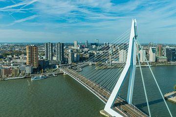 Erasmusbrug Rotterdam, van bovenaf gezien