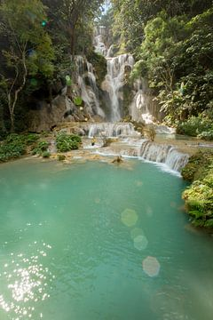 Fairytale Kuangsi cascade and pool, Laos von Fleur Halkema