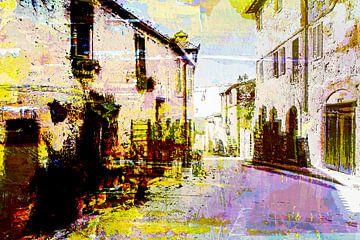 Street in Toscane Italy von PictureWork - Digital artist