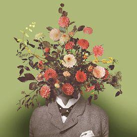 Zelfportret met bloemen 17 van toon joosen