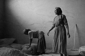 Enjera making Ethiopia van