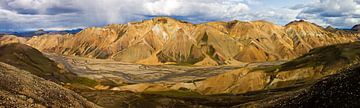 Panorama Landmannalaugar te IJsland van