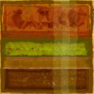 Abstract aquarel in aardetinten