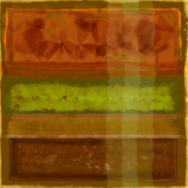 Abstract aquarel in aardetinten van Rietje Bulthuis