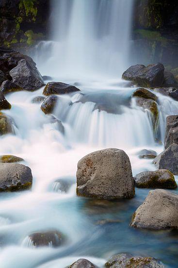 Oxararfoss waterval Iceland  van Menno Schaefer