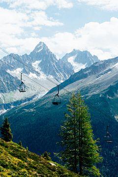 Stoeltjeslift in de Alpen || Reisfotografie Franse Alpen