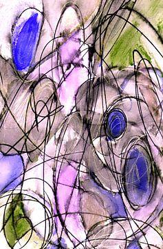 Verwoben - abstrakte Kringel von Claudia Gründler