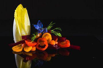 Salade culinaire colorée sur Corrine Ponsen