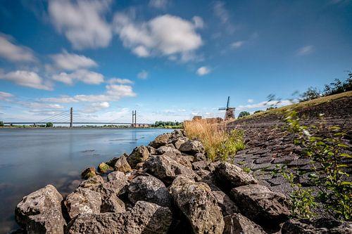 Uitzicht over het landschap van de de IJsseldelta