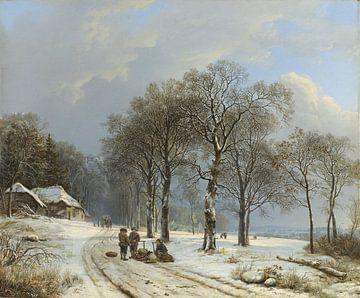 Winterlandschaft, Barend Cornelis Koekkoek von Rebel Ontwerp