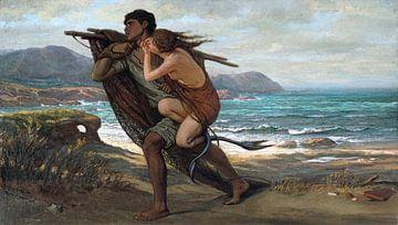 Fischer und Meerjungfrau, Elihu Vedder, 1889 von Atelier Liesjes