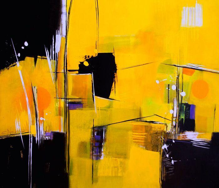 Schwarz-Gelb abstrakt von Claudia Neubauer