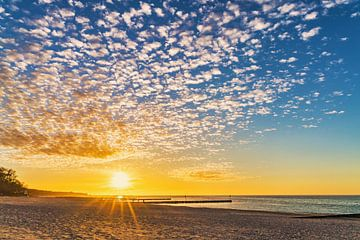 Sunset at the beach van