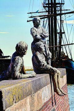Hoorn Noord-Holland Pays-Bas Garçons du capitaine Bontekoe sur Hendrik-Jan Kornelis