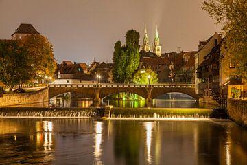 Maxbrücke und St. Lorenz in Nürnberg von Werner Dieterich