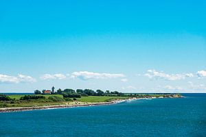 Landscape on the Baltic Sea coast in Gedser