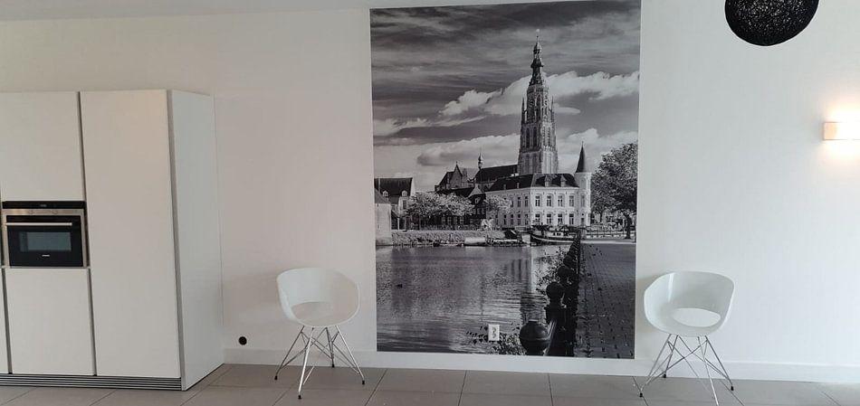 Klantfoto: Breda Spanjaardsgat vanaf Prinsenkade van Jean-Paul Wagemakers, op naadloos behang