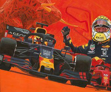 Painting 2019 Austrian Grand Prix winner Max Verstappen (NED) Toon Nagtegaal van Adam's World