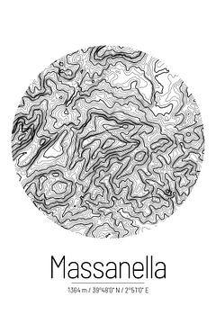 Puig de Massanella | Landkarte Topografie (Minimal) von ViaMapia