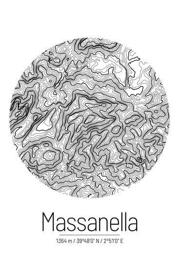 Puig de Massanella | Topographie de la carte (minimum)