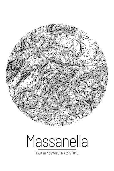 Puig de Massanella | Topographie de la carte (minimum) sur ViaMapia