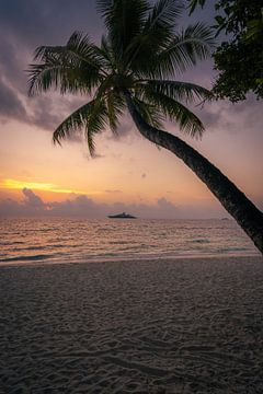 Malediven Sonnenuntergang von Michiel Dros